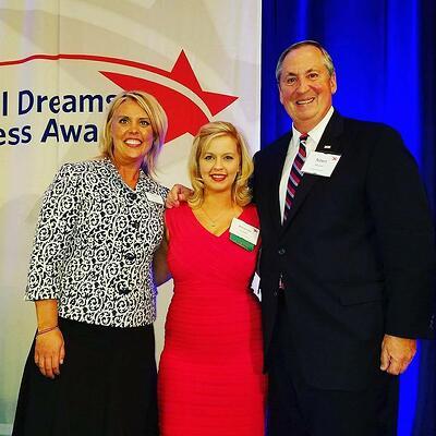 Amanda with Scholarship America's Amy Robinson and Bob Ballard